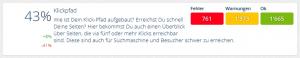 Status Klickpfad-Längen OnPage.org