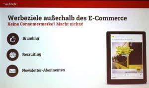 Vortrag: 10-Facebook Mythen - Werbeziele außerhalb des E-Commerce
