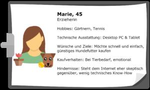 Beispiel Persona: Marie, 45, Erzieherin